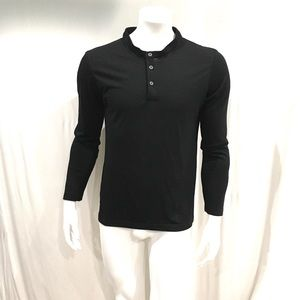 Olivers Mens Black Wool Henley T Shirt